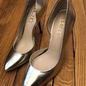 BCBG high heel pumps in gold